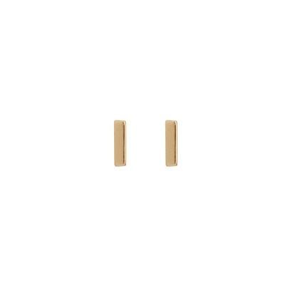 Tiny Rose Gold Plated Sterling Silver Bar Studs