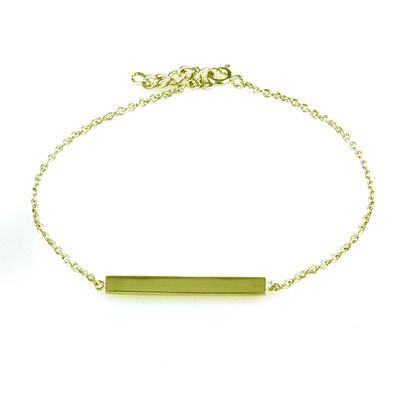Golden Wide Bar Bracelet