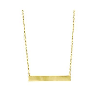 Golden Wide Bar Necklace