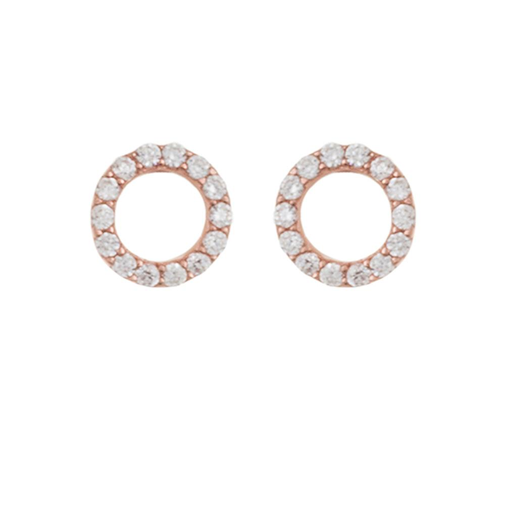 l versona circle studs item default open pave earrings