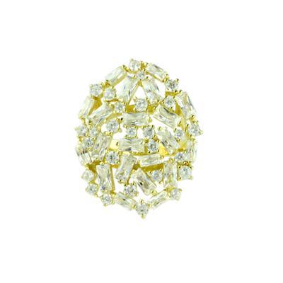 Gold & Cz Baguette Cluster Ring