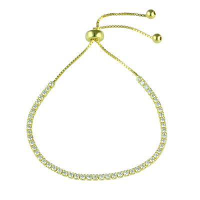 Adjustable Gold & Cz Bracelet