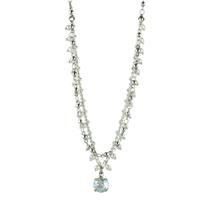 Clara Beau Round Moonlight Swarovski Crystal Necklace