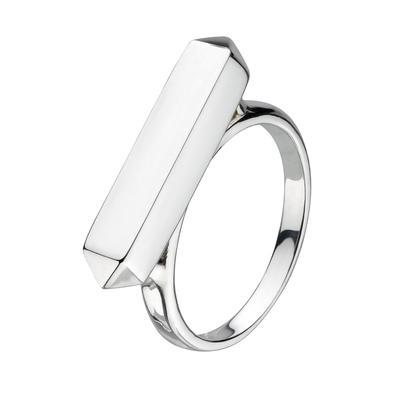 Kit Heath Sterling Silver Manhattan Bar Ring