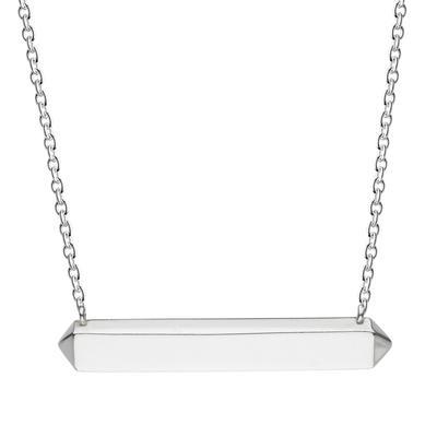 Kit Heath Sterling Silver Horizontal Manhattan Bar Necklace