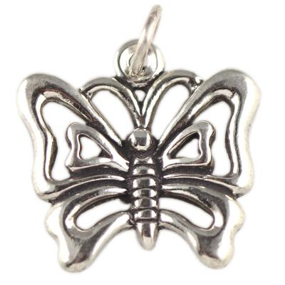 Sterling Silver Looped Butterfly Charm