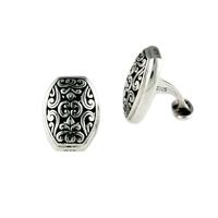 Indiri Sterling Silver Bali Filigree Cuff Links