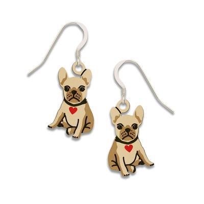 Sienna Sky French Bulldog Puppy Earrings