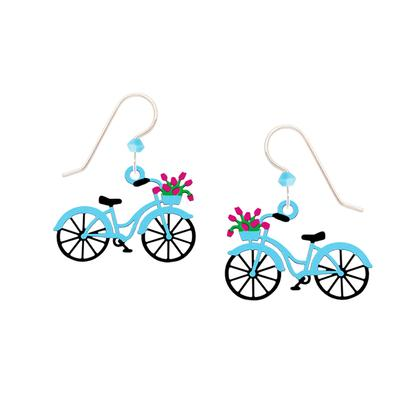 Sienna Sky Blue Bicycle Earrings