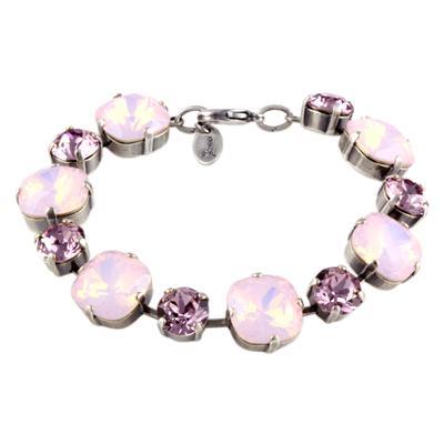 Krikor Rose Water Opal & Light Amethyst Swarovski Crystal Bracelet