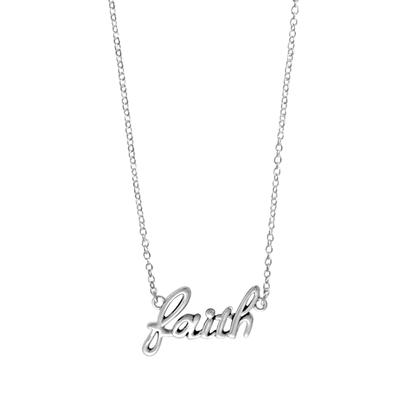Boma Sterling Silver Faith Necklace