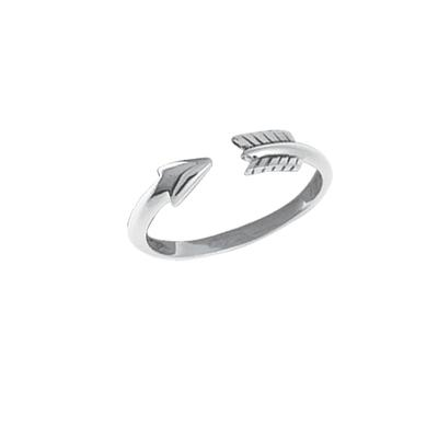 Boma Sterling Silver Open Arrow Ring