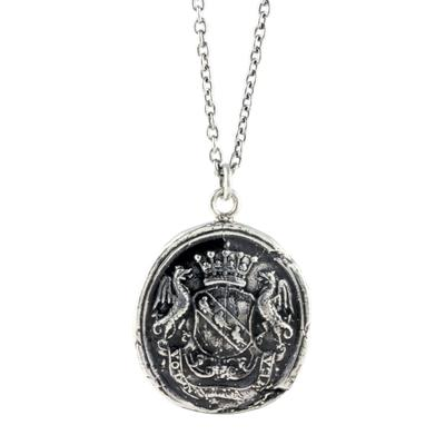 Pyrrha Sterling Silver My Life Is A Prayer Talisman Necklace