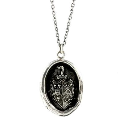 Pyrrha Sterling Silver Rise Above Talisman Necklace