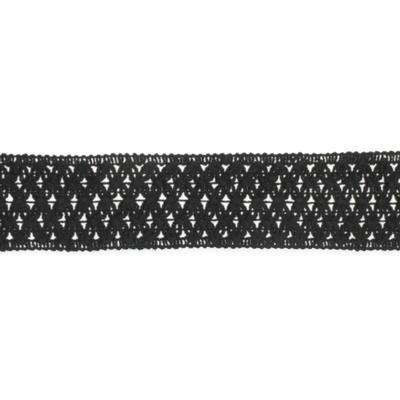 Wide Black Crochet Lace Choker
