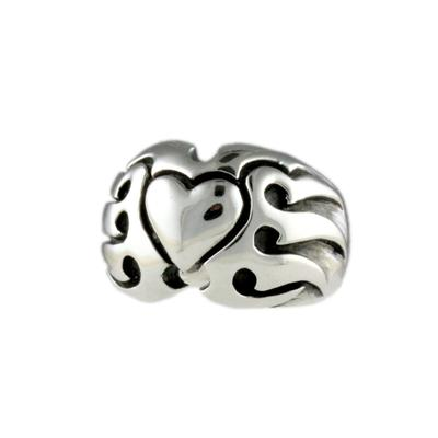 Wts Women's Sterling Silver Flaming Heart Ring