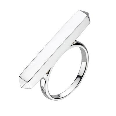 Kit Heath Sterling Silver Long Manhattan Bar Ring