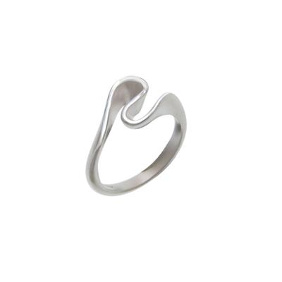 Boma Sterling Silver Twisted Ribbon Ring