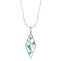 Boma Fractured Sterling Silver & Turquoise Necklace
