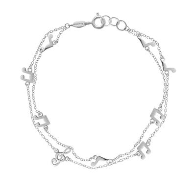 Boma Sterling Silver Music Note Bracelet