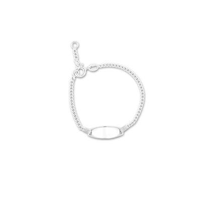 Sterling Silver Baby Id Bracelet