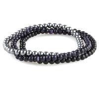 Power Mini Bracelet Trio: Black Agate, Blue Goldstone & Hematite