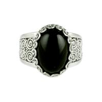 Sarda Sterling Silver & Black Onyx Ring