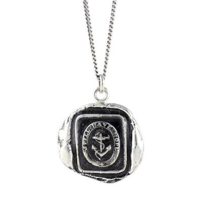 Pyrrha Sterling Silver Anchor Talisman Necklace
