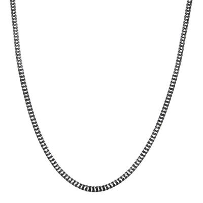 Inox Oxidized Stainless Steel Wheat Chain