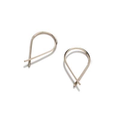 By Boe Sterling Silver Crossover Earrings
