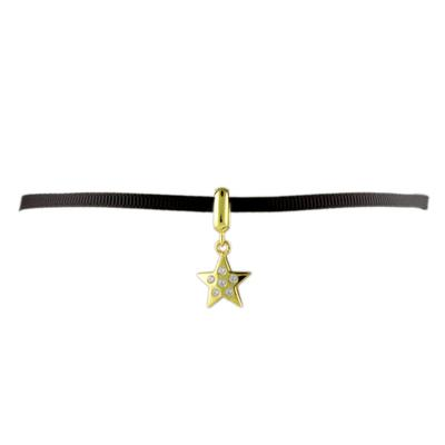 Gold & Cz Star Ribbon Choker