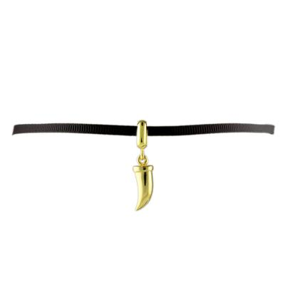 Gold Horn Ribbon Choker
