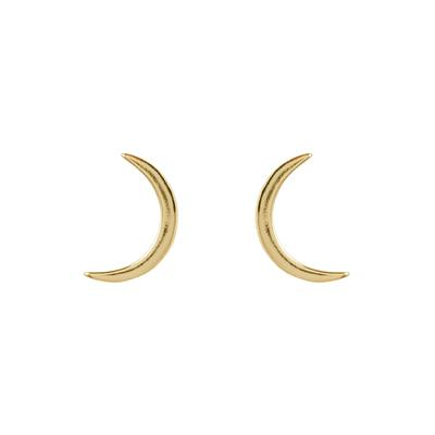 Golden Crescent Moon Studs