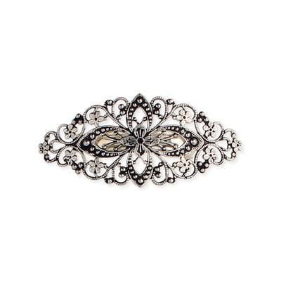 Antiqued Silver Metal Barrette