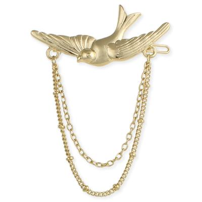 Brushed Golden Bird Hair Clip
