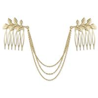 Golden Double Fern Hair Comb