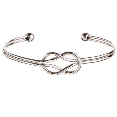 Silver Metal Knot Cuff Bracelet