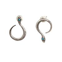 Workhorse Sterling Silver & Turquoise Snake Studs