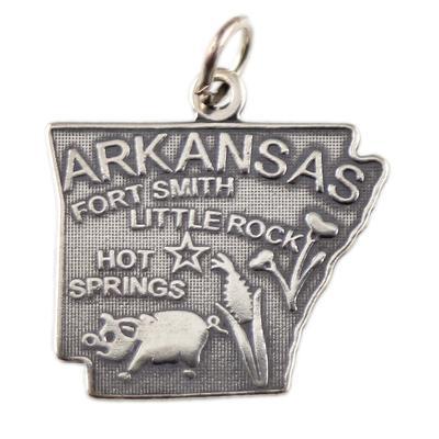 Sterling Silver Arkansas Charm