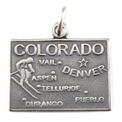 Sterling Silver Colorado Charm