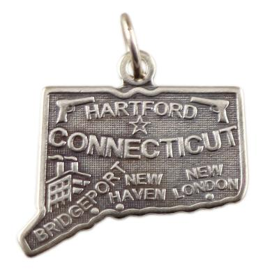 Sterling Silver Connecticut Charm