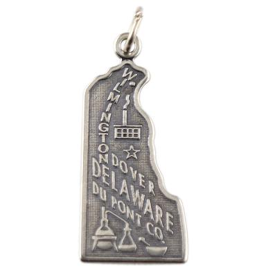 Sterling Silver Delaware Charm
