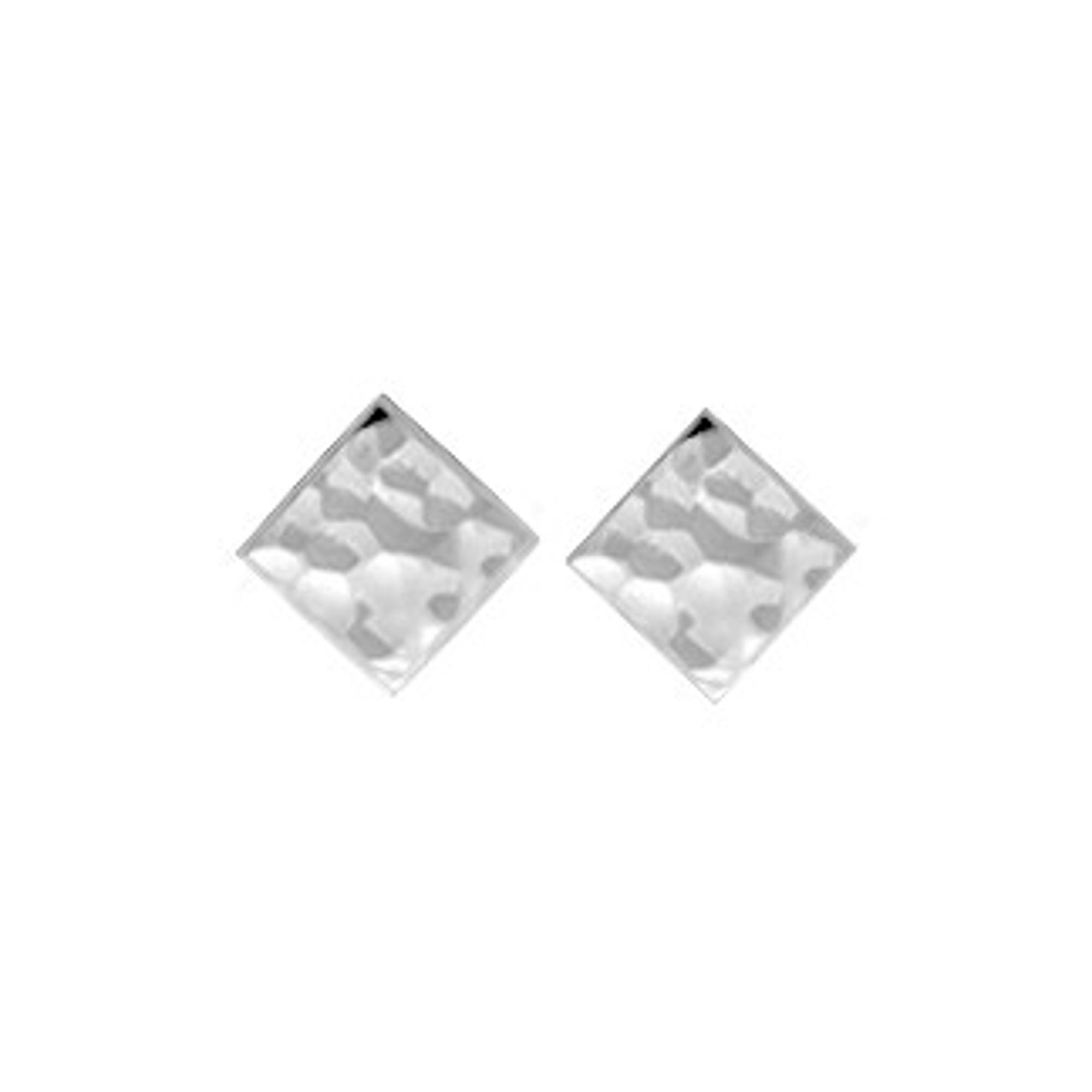 Boma Hammered Sterling Silver Square Studs