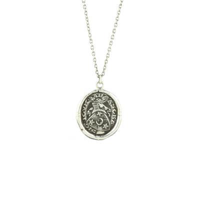 Pyrrha Sterling Silver Stay True Talisman Necklace