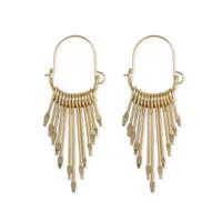 Golden Metal Paddle Hoops
