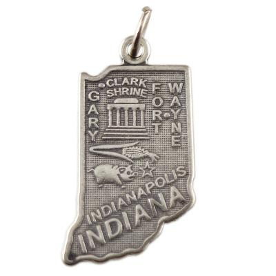 Sterling Silver Indiana Charm
