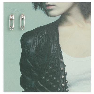 Silver Metal Safety Pin Studs
