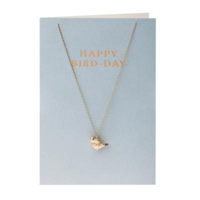 Orelia London Gold Bird Necklace