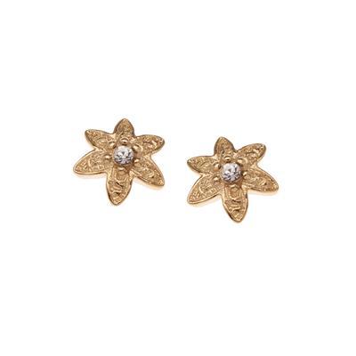 Orelia London Gold Crystal Flower Studs