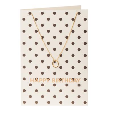 Orelia London Gold Open Circle Necklace